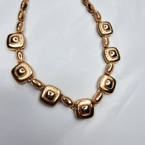 Monet Gold Tone Metal Station Classic Necklace